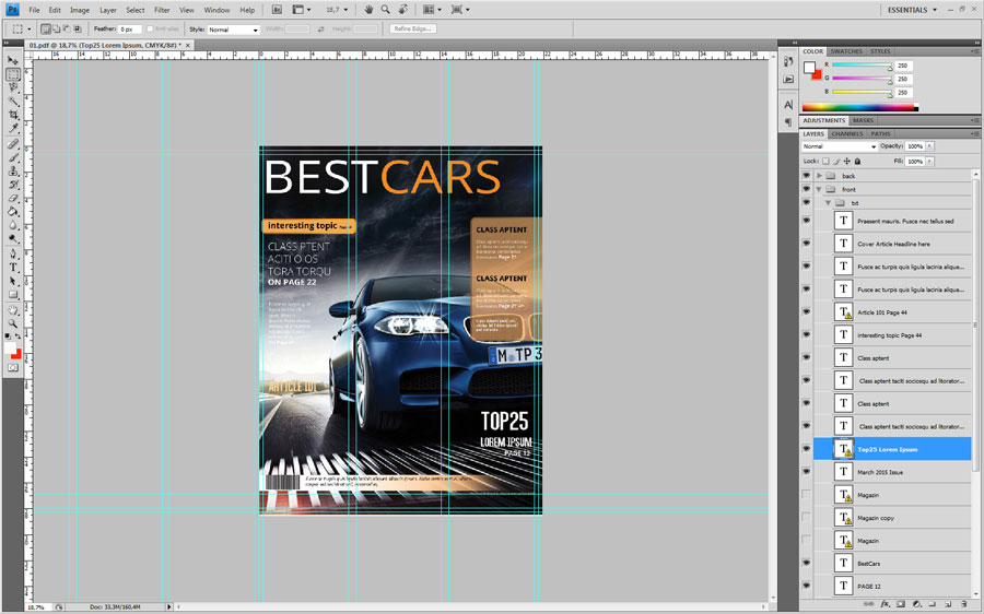 Magazine Design in Photoshop