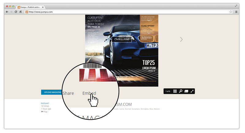 How to Embed a magazine on website