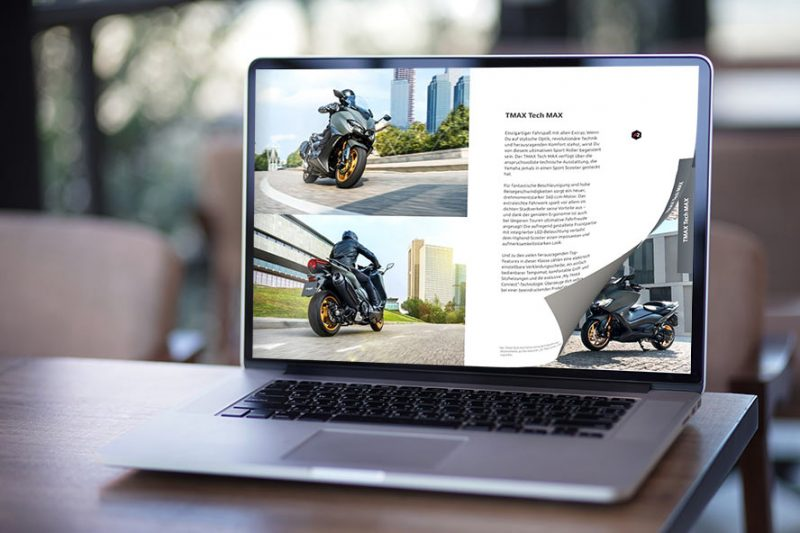 Create Digital Magazine with page flip on the laptop