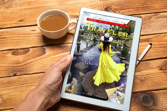 Magazine with a pageflip effect on the tablet